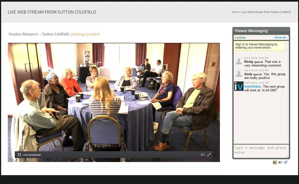 Focus Group Web Streaming